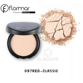 Flormar Compact Face Powder -097 RED-CLASSIC