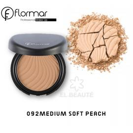 Flormar Compact Face Powder -092 MEDIUM SOFT PEACH