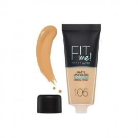 Maybelline New York Fit Me Matte& Poreless Foundation - 105 Natural Ivory