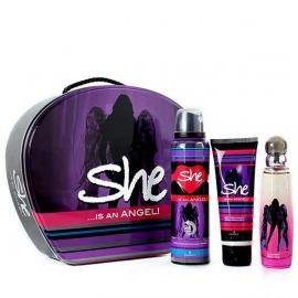She Is Angel Gift Set Eau de Toilette, 50 ml- With Deodorant& Body Lotion