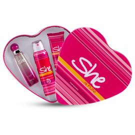 She is fun Gift Set Eau de Toilette, 50 ml- With Deodorant& Body Lotion