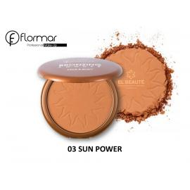 FLORMAR -03-Bronzing Powder Face And Body-SUN POWER