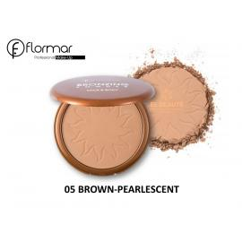 FLORMAR -05-Bronzing Powder Face And Body- BROWN-PEARLESCENT