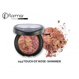 FLORMAR -45-BAKED BLUSH-TOUCH OF ROSE-SHIMMER
