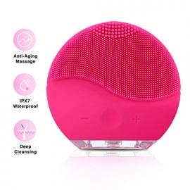 Facial Cleansing Brush,Silicon,Waterproof Face Cleanser for Exfoliation Scrub and Massager Brush