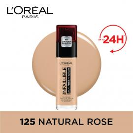 L'Oreal Paris Infallible 24Hr Freshwear Liquid Foundation 125 Natural Rose
