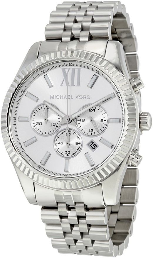 Michael Kors Lexington Men's Silver Dial Stainless Steel Band Watch - MK8405
